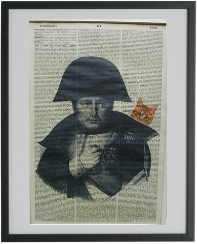 Napoleon Bonaparte and Ginger Cat Wall Art No.299, famous