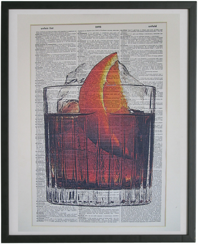 Negroni Cocktail Wall Art No.363