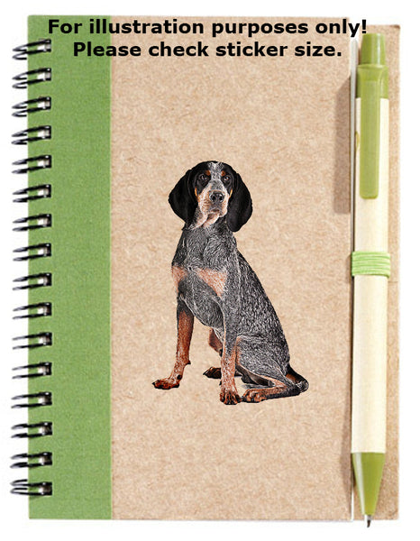Bluetick Coonhound Dog Sticker No.160