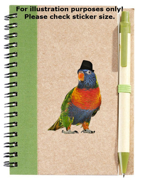 Rainbow Lorikeet Sticker No.442, bird prints