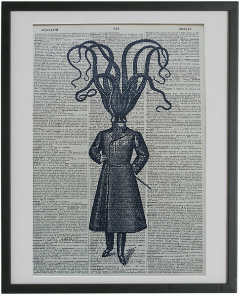 Octopus Man Print No.344, gothic