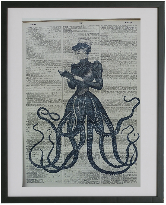 Octopus Woman Wall Art No.204, gothic