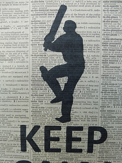 Cricket Player Wall Art No.84