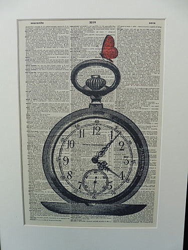 Pocket Watch Print No.333, vintage equipment