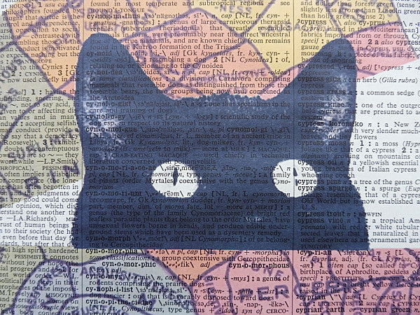 Black Cat Peeking #4 Wall Print No.469