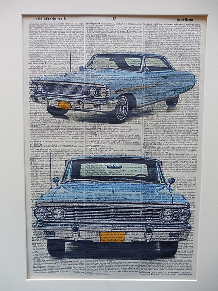 Ford Galaxie Hardtop 1964 Car Print No.512