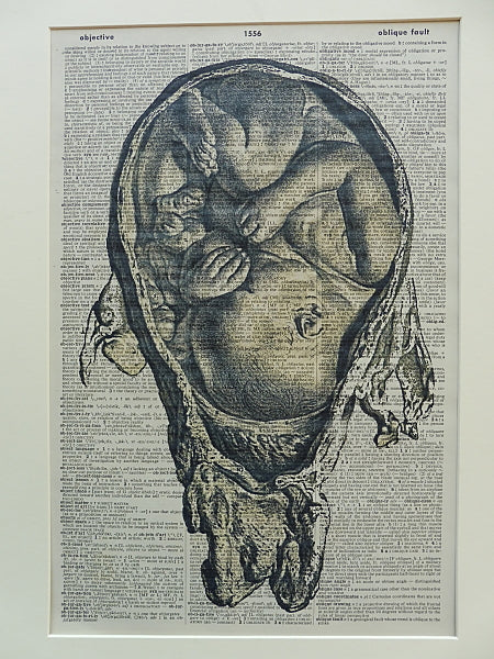 Baby in Womb Wall Print No.570