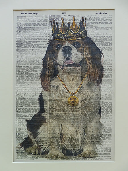 King Charles Cavalier Spaniel Dog Print No.604