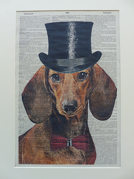 Dachshund Dog Print No.610