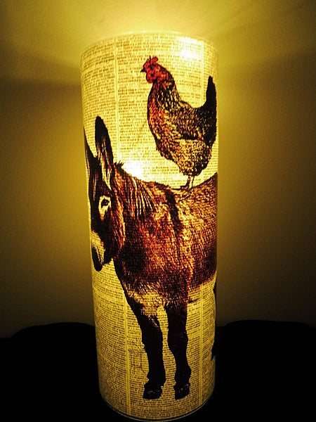 Donkey and Chicken Lantern No.230, animal