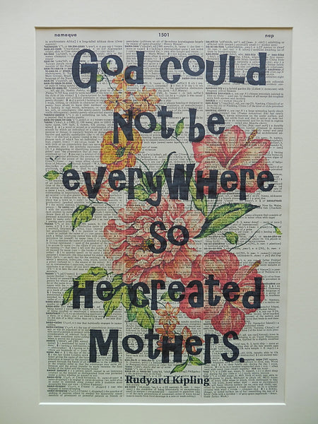 Mother Quote #2 Wall Art No.371, inspirational quote prints