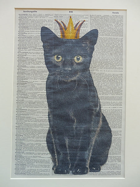 Black Cat #1 Wall Print No.500