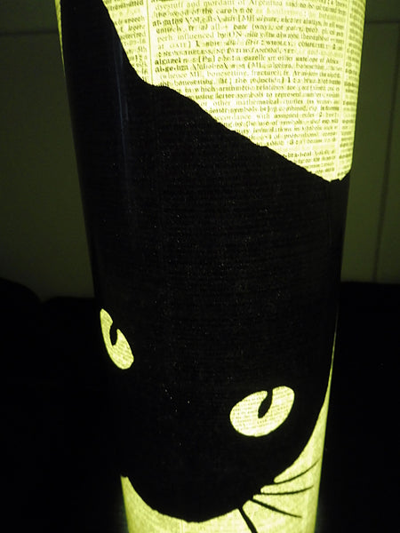 Black Cat Peeking #1 Lantern No.69