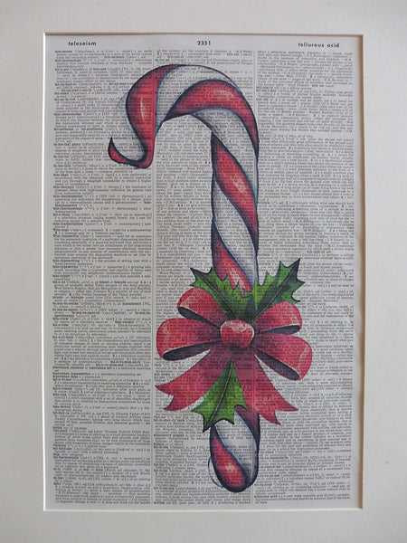 Christmas Candy Cane Print No.857