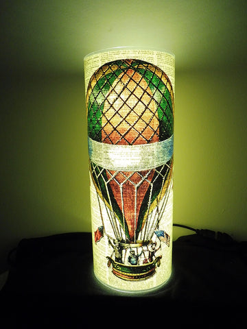 Hot Air Balloon Dictionary Page Paper Lantern No.321