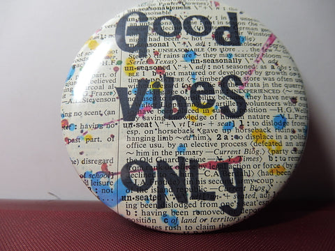 Good Vibes Only Quote Fridge Magnet No.882, inspirational quotes