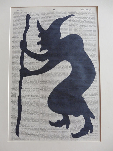 Witch Silhouette Print No.939, gothic