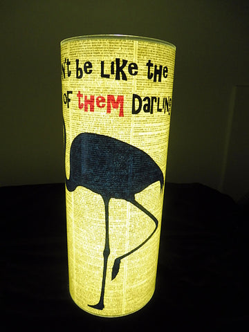 Blue Flamingo Quote Paper Lantern No.304, inspirational