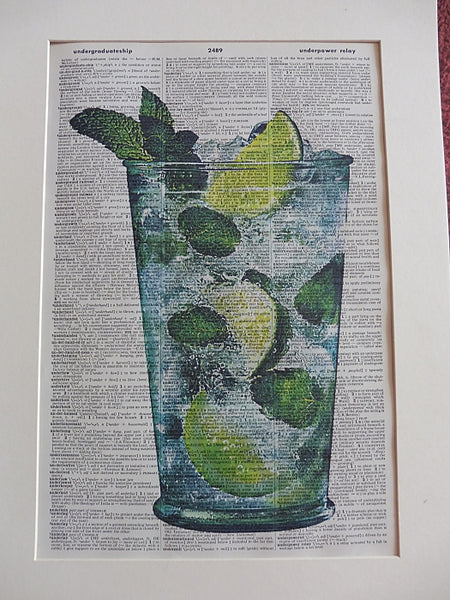 Mojito Cocktail Print No.942