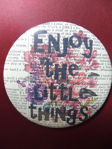 Enjoy the Little Things Quote Fridge Magnet No.879, inspirational quotes