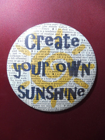 Create Your Own Sunshine Quote Fridge Magnet No.878, inspirational quotes