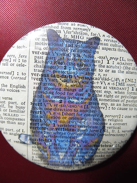 Blue Cat Fridge Magnet No.32