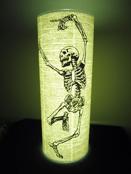 Skeleton Dancing Paper Lantern No.350, gothic