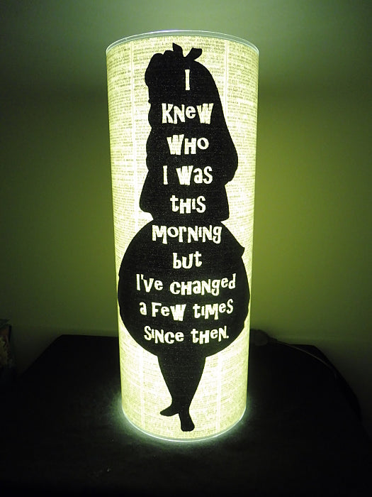 Alice in Wonderland Change Quote Paper Lantern No.599
