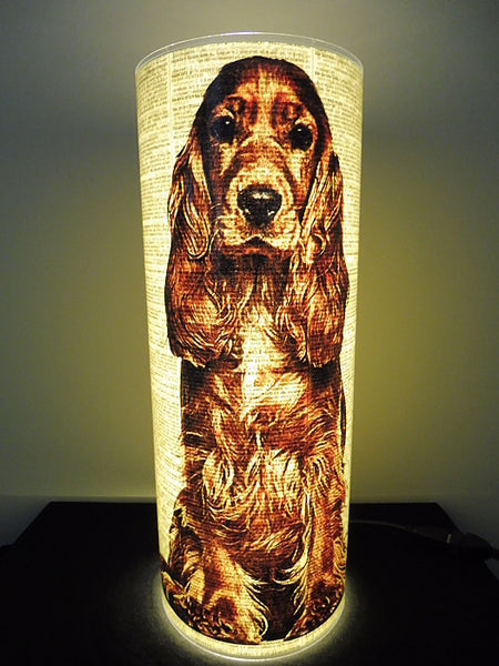 Cocker Spaniel Brown Dog Paper Lantern No.529