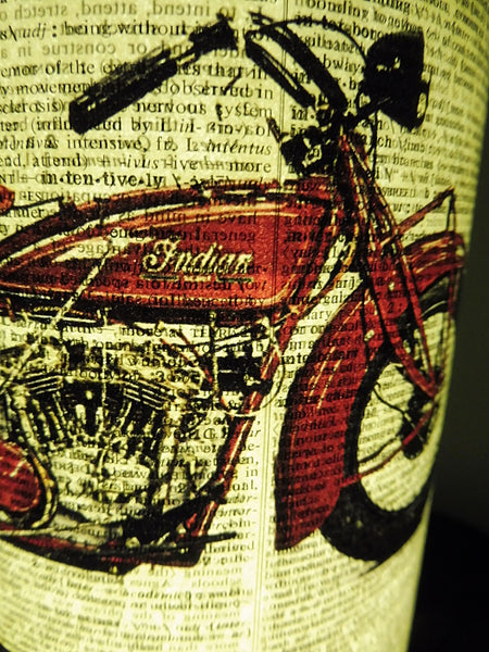 Indian Scout Motorcycle Paper Lantern No.659