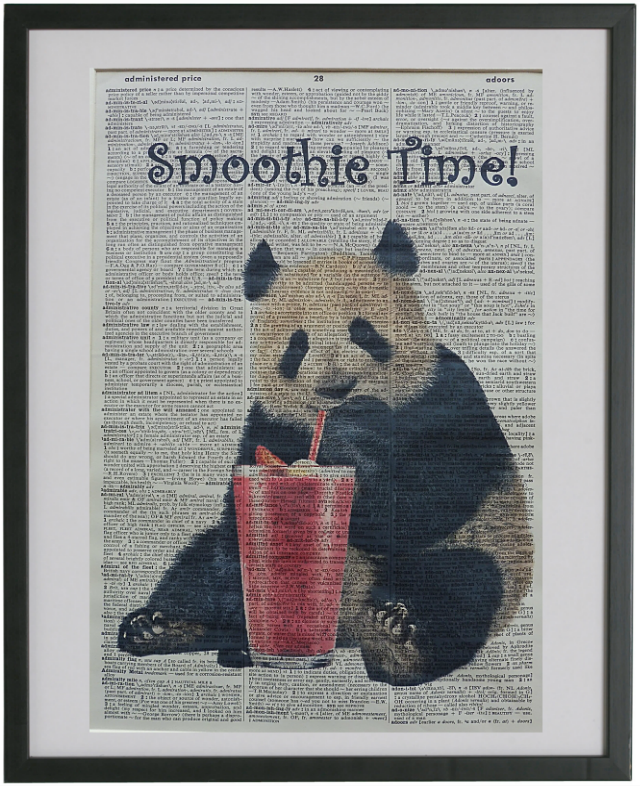 Panda Bear Wall Print No.137, animals