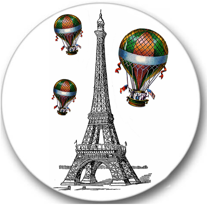 Paris Eiffel Tower #1 Sticker Seals No.199