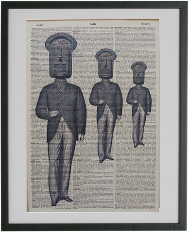 Parking Meter Men Gothic Print No.180