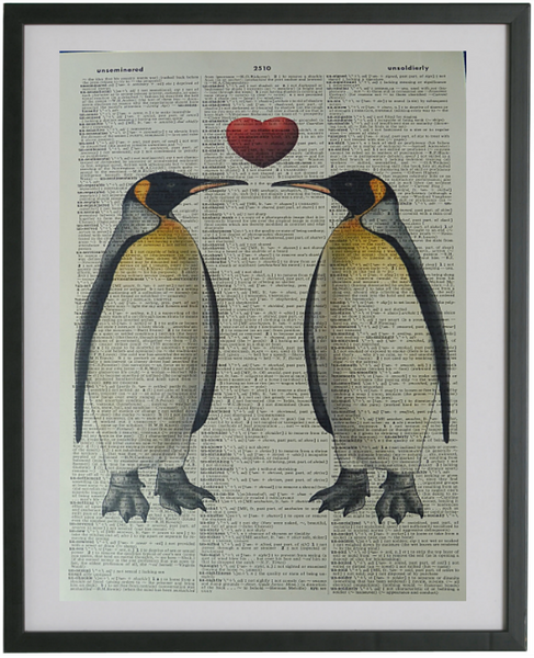 Penguins Print No.18, bird print