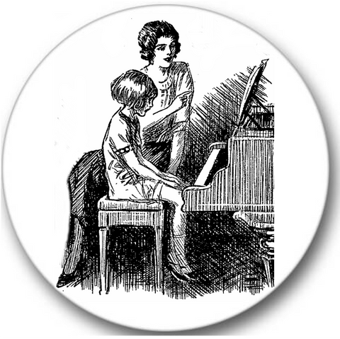 Piano Teacher Sticker Seals No.923