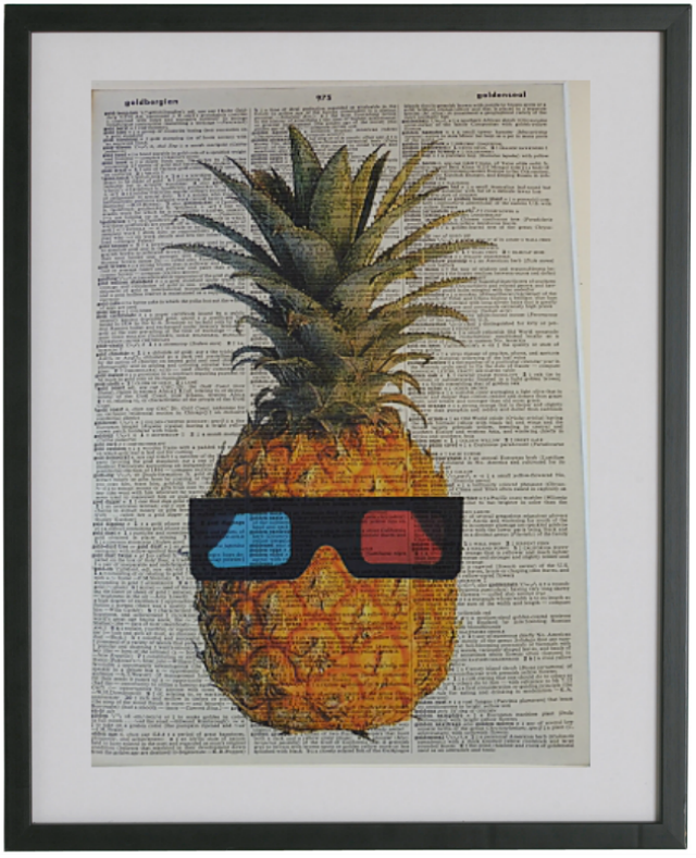 Pineapple Print No.8, botanical
