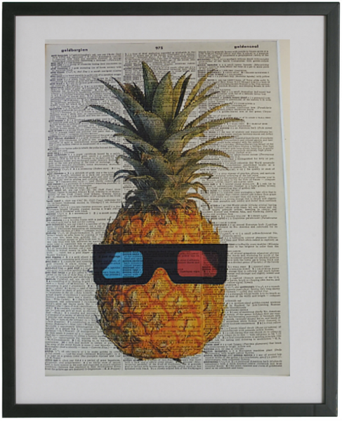 Pineapple Wall Print No.8, botanical