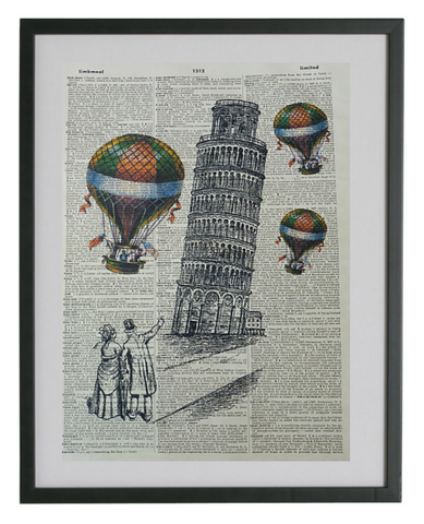 Pisa Leaning Tower Wall Print No.201
