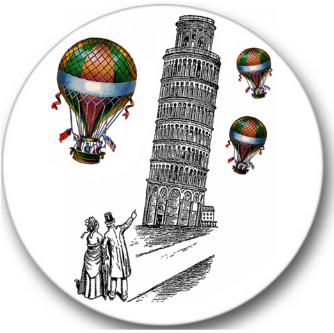 Pisa Leaning Tower Sticker Seals No.201