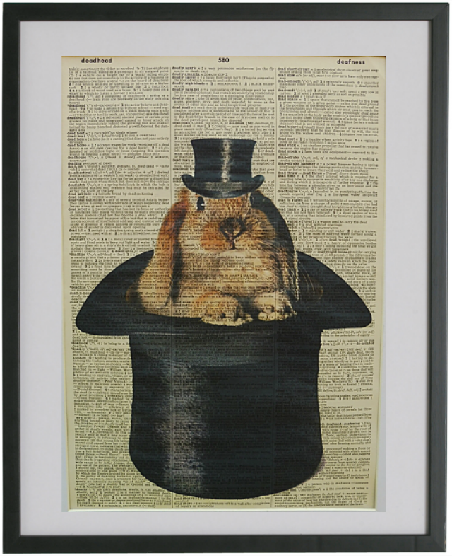 Rabbit Print No.459, animals