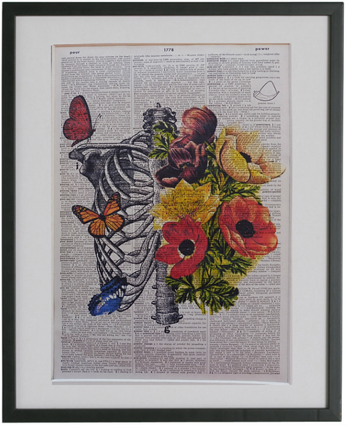 Rib Cage and Flowers Print No.181