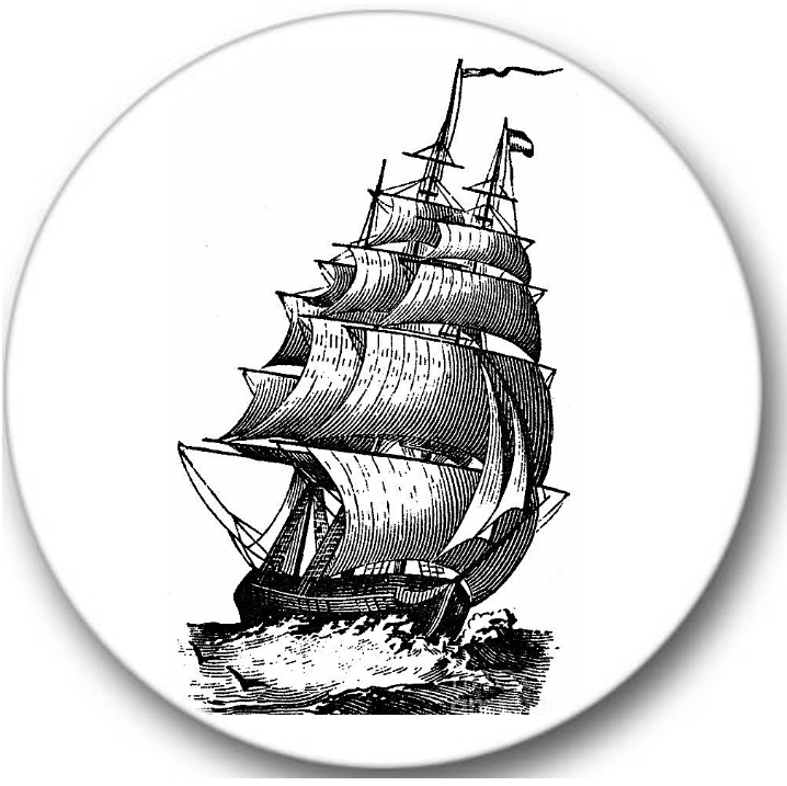 Clipper Sailing Ship Sticker Seals No.571