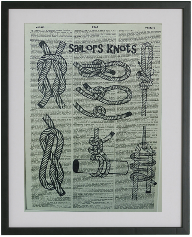 Sailors Knots Print No.318