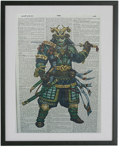 Japanese Samurai Warrior Print No.219