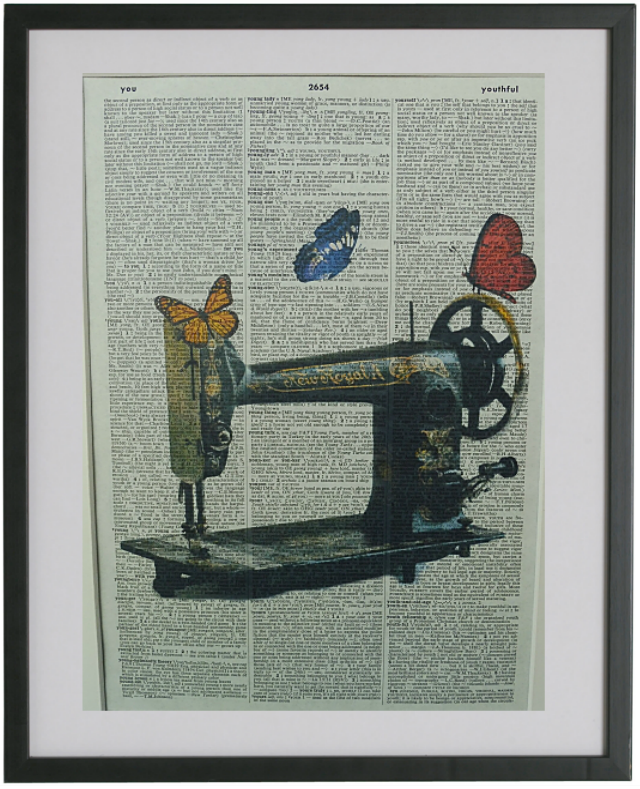 Sewing Machine Print No.328, vintage equipment