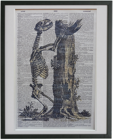 Skeleton Print No.655, gothic