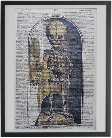 Skeleton Print No.656, gothic