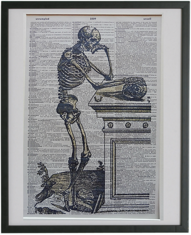 Skeleton Print No.657, gothic