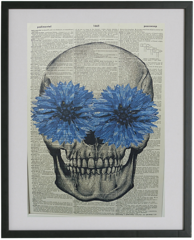 Skull #3 Wall Art No.390, gothic