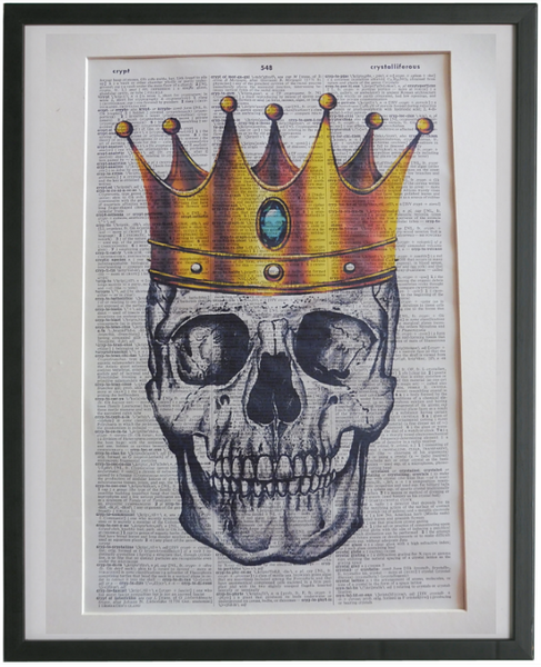 Skull and Crown Wall Art No.811, gothic